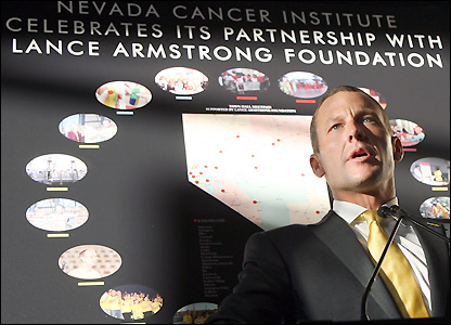 Armstrong set-up the Lance Armstrong Foundation in 1997