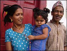 Mr Katuwal and his latest wife, Sharada
