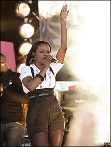Keisha Buchanan of the Sugababes