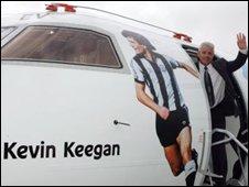 Kevin Keegan Flybe plane