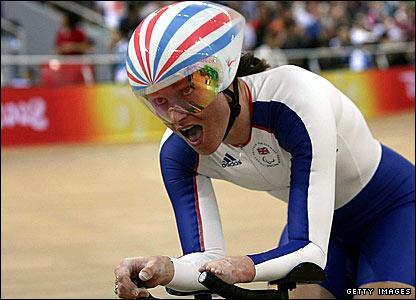 British cyclist Sarah Storey