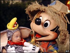 Mickey Mouse and friend