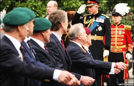 Prince of Wales with veterans