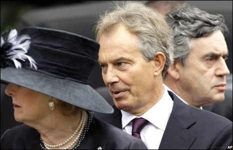 Tony Blair, Gordon Brown and Lady Thatcher
