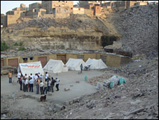 Scene of Cairo rockfall