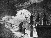 The grotto devoted to St. Vitus beneath the summit of a mountain beyond Saverne