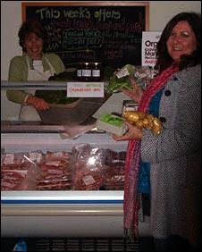 Angela Soave at the shops