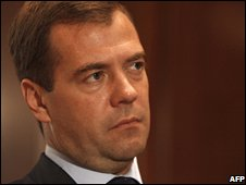 Russian President Dmity Medvedev