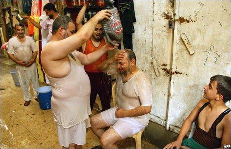 Iraqi men in Najaf