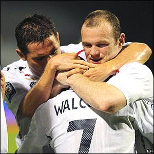Frank Lampard, Theo Walcott, Wayne Rooney, England