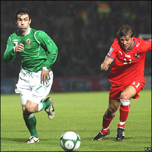 Keith Gillespie, Northern Ireland; Radek Sirl, Czech Republic