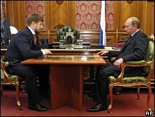 Ramzan Kadyrov meets Vladimir Putin