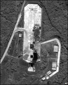 Satellite image said to show the Pongdong-ni facility in North Korea