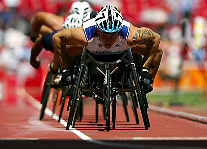 David Weir in action in the Bird's Nest Stadium