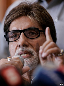 Amitabh Bachchan apologised at a press conference on 10 September 2008