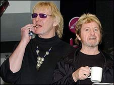 Chris Squire and Jon Anderson of Yes, pictured in 2004