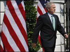 George W Bush at the White House, Sept 2008