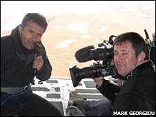 David Shukman and cameraman Duncan Stone