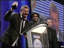 Elbow accepting the Mercury Prize