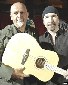 Peter Gabriel and U2's The Edge