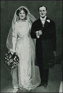 Dibujo de la boda de Churchill