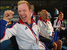GB's boccia team celebrate