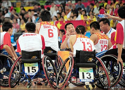 China's men's wheelchair basketball team