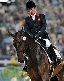 Britain's Lee Pearson riding Gentleman
