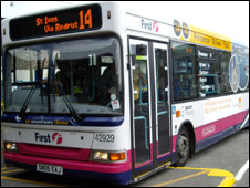 First Devon and Cornwall bus: Pic First