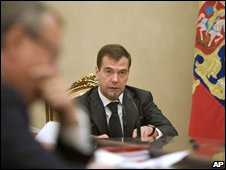 President Dmitry Medvedev at the Kremlin, 11/09