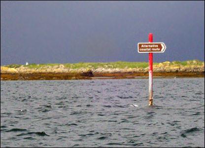 Alternative coastal route