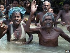 Flood victims in Bihar