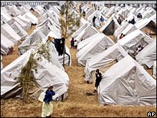 The camp for displaced people at Eldoret showground