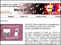 """Imagen de la página web de la estatal  Venezolana de Televisión haciendo referencia al audio presentado en el programa """"la Hojilla"""""""