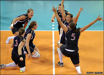 USA women's sitting volleyball team
