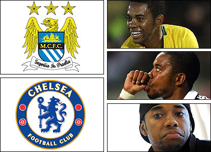 Robinho said it was his dream to join Chelsea, but he instead moved from Real Madrid to Manchester City