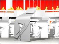 Graphics of Scottish Assembly interior