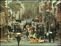 RUC officers at scene