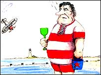 Gordon Brown cartoon