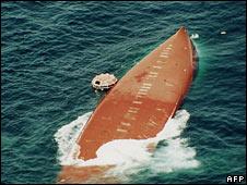 The Joola capsizes off Senegal on 27 September 2002