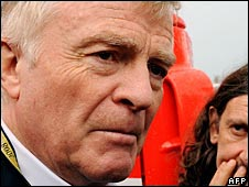Max Mosley pictured in Monza on Friday