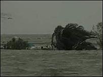 Imagen del mar cerca de la costa de Texas