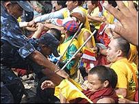 Протест тибетцев в Непале