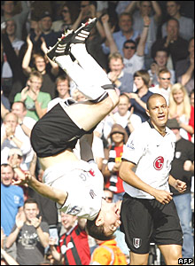 Zoltan Gera and Bobby Zamora of Fulham