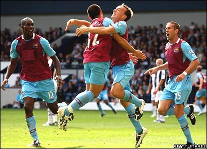 Carlton Cole, David Di Michele, Mark Noble, and Matthew Upson, West Ham United