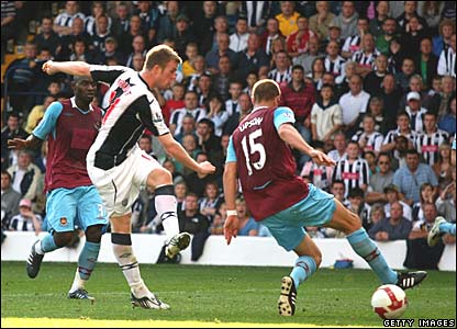 Christ Brunt, West Bromwich Albion; Matthew Upson, West Ham United