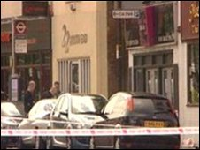 The scene of the fatal stabbing on South End Road