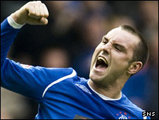 Kris Boyd celebrates against Killie