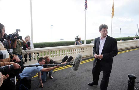 Nick Clegg on Bournemouth promenade