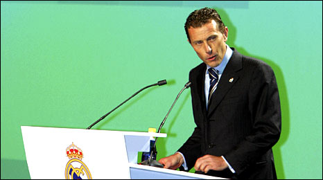 Former Spain and Real Madrid striker Emilio Butragueno